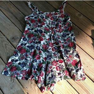 Vintage Sleeveless Floral Romper